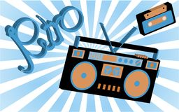 Old vintage retro hippies is a stylish isometric music audio rec. Order for listening to audio cassettes from the 70`s, 80`s, 90`s against the background of stock illustration