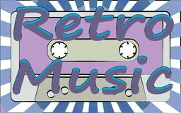 An old vintage retro hipster antique musical film audio cassette and an inscription of retro music on a background. Of rays from the 70`s, 80`s, 90`s. The vector illustration