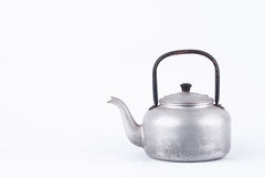 Old vintage retro Kettle on white background drink isolated  still life. Which, kettle made of aluminum materials. Stock Image