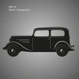 Old vintage retro pre-war car vector icon. Exclusive car. Old vintage retro pre-war roadster vector illustration Royalty Free Stock Images