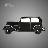 Old vintage retro pre-war car vector icon. Exclusive car. Old vintage retro pre-war roadster vector illustration Royalty Free Stock Photo