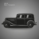 Old vintage retro pre-war car vector illustration. Exclusive car. Old vintage retro pre-war roadster vector illustration Royalty Free Stock Photography