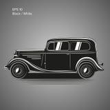 Old vintage retro pre-war car vector illustration. Exclusive car. Old vintage retro pre-war roadster vector illustration Stock Image