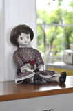Old Vintage Retro Sad Girl Doll Royalty Free Stock Photography
