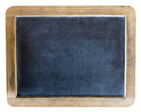 Old Vintage retro School Chalkboard Slate Isolated. An old vintage retro chalkboard slate used in a school during the olden days. Isolated with a white stock photography