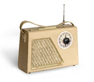 Old  vintage retro style radio. Old vintage retro style radio receiver isolated on white background with clipping path Royalty Free Stock Images