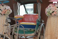 old vintage retro traditional Thailand tricylcle royalty free stock images