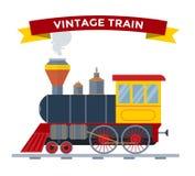 Old vintage retro transportation train vector Stock Images