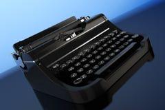 Old Vintage Retro Typewriter. 3d Rendering Stock Image