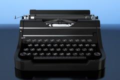 Old Vintage Retro Typewriter. 3d Rendering Royalty Free Stock Photo