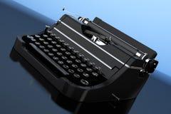 Old Vintage Retro Typewriter. 3d Rendering Royalty Free Stock Photography