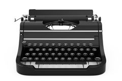 Old Vintage Retro Typewriter. 3d Rendering Stock Images