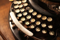 Old vintage retro wooden typewriter Royalty Free Stock Photos