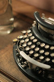 Old vintage retro wooden typewriter Stock Images