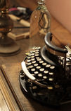 Old vintage retro wooden typewriter Royalty Free Stock Photography
