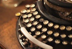 Old vintage retro wooden typewriter Royalty Free Stock Photo