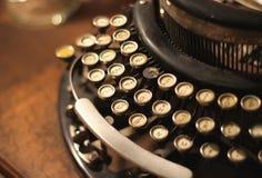 Old vintage retro wooden typewriter Royalty Free Stock Photo
