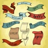 Old vintage ribbon vector illustration