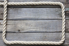 Old vintage rope and planks background Stock Photography