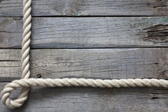 Old vintage rope and planks background Royalty Free Stock Photography