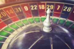 Old vintage roulette and gamble for risk concept Stock Image