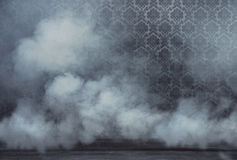 Old vintage rrom filled with dense smoke Stock Photo