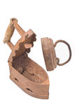 Old vintage Russian Soviet rusty iron isolated Stock Images