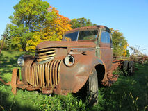 Free Old Vintage Rusty Farm Truck Stock Photography - 63030252