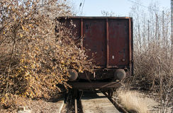 Old vintage rusty freight wagon Royalty Free Stock Images