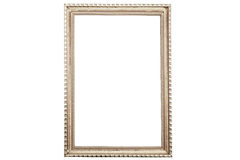 Old vintage rusty golden picture frame isolated on white Royalty Free Stock Image