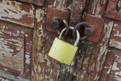 Old vintage rusty padlock royalty free stock photo