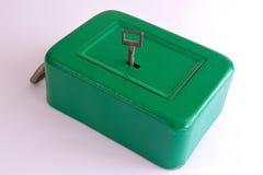 Old vintage safe. Old safe vintage on white Stock Images