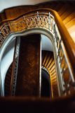 Old vintage semicircular staircase Royalty Free Stock Photos