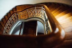 Old vintage semicircular staircase Stock Photography