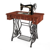 The old vintage sewing machine isolated Royalty Free Stock Image