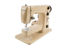 Old vintage sewing machine isolated on white Stock Image