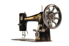 The old vintage sewing machine Stock Image