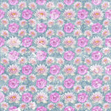 Old vintage shabby flower wallpaper Stock Photography