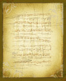 Old vintage sheet music background Stock Photos