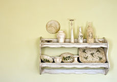 Old, vintage shelf Stock Photo