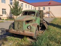 Old abandoned vintage shool truck. Vintage model 1950 year, GAZ Royalty Free Stock Photos