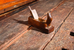 Old vintage smoothing plane angle one Stock Photography