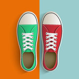 Old vintage sneakers. Royalty Free Stock Photo