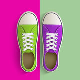 Old vintage sneakers. Royalty Free Stock Photography