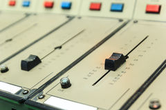 Old/vintage sound controller Stock Photography