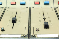 Old/vintage sound controller Royalty Free Stock Image