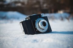 Old Retro Soviet Camera royalty free stock photos