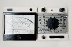 Old vintage soviet digital ammeter electrical tester multimeter Royalty Free Stock Photos
