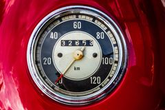 Old vintage speedometer stock images