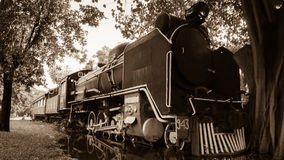 Old vintage steam train Stock Photo